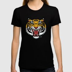 TIGER Womens Fitted Tee Black X-LARGE