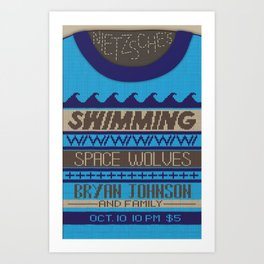 """""""Sweater Weather"""" gig poster Art Print"""