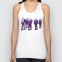 reservoir dogs Tank Tops featuring JOKER DOGS reservoir dogs batman dark knight rises dc comics by Radiopeach