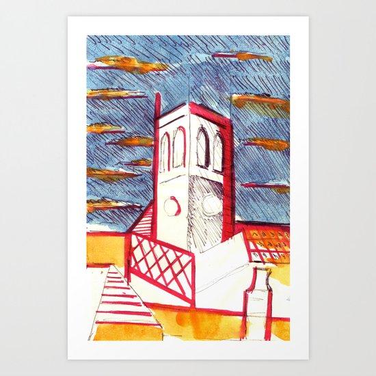 St Peters Church, Brighton Art Print