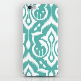 Ikat Damask Aqua iPhone Skin
