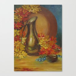 Still Life Vase and Flowers Canvas Print