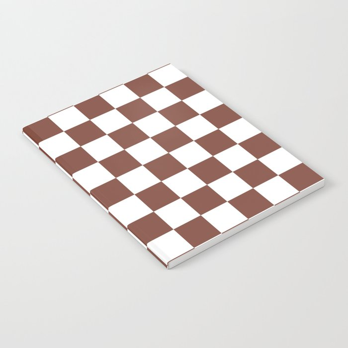Checkered (Brown & White Pattern) Notebook