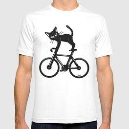 Cat loves a bike T-shirt