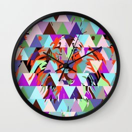 Lion and triangles Wall Clock