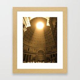 Inside the Pantheon  Framed Art Print