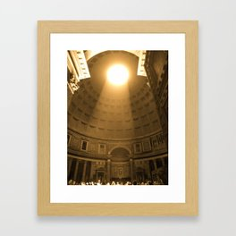 Inside the Pantheon  Framed Art Print