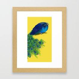 The Beauty That Sleeps - Vertical Peacock Painting Framed Art Print