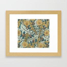 Art Nouveau Dandelion Pattern Framed Art Print