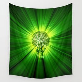 Think Green Wall Tapestry