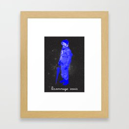 BOLO 1 personnage assis Framed Art Print
