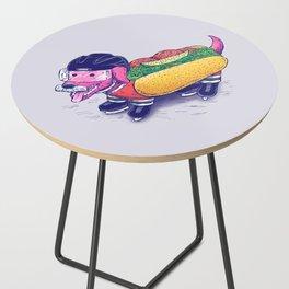 Chicago Hockey Dog Side Table