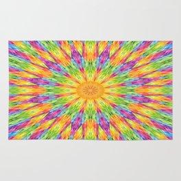 Rainbow Mandala Rug