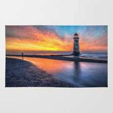 Lighthouse Sunset  Rug