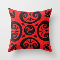 notebook Throw Pillows featuring Untitled (Cover Design for Notebook) by Crystal Granlund