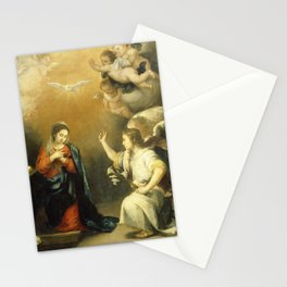 Annunciation to the Virgin (ca 1660-1680) by Bartolome Esteban Murillo Stationery Cards