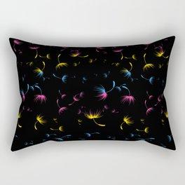 Dandelion Seeds Pansexual Pride (black background) Rectangular Pillow