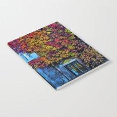 Denmark in Autumn Leaves, university building Notebook
