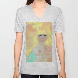 Bare Buxom Blonde Unisex V-Neck