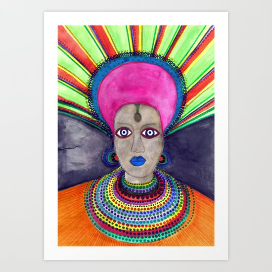 queen etnic pop Art Print