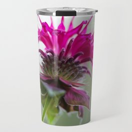 Pink Bee Balm Flower 3 Travel Mug
