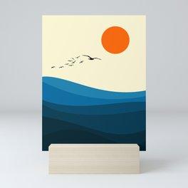 Royal blue ocean Mini Art Print