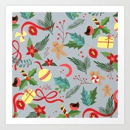 Christmas Pattern 9 Art Print