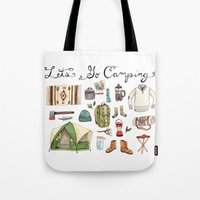 backpack Tote Bags featuring Let's Go Camping by Brooke Weeber