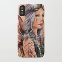 engineer iPhone & iPod Cases featuring Engineer Fairy by Mortimer Sparrow