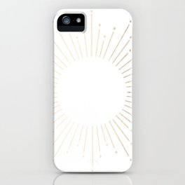 Simply Sunburst in White Gold Sands on White iPhone Case