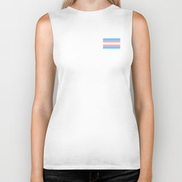 Gay Pride LGBT Transgender Rainbow Stripe Flag design Biker Tank