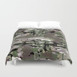 Camo Camo, and the art of disappearing. Duvet Cover