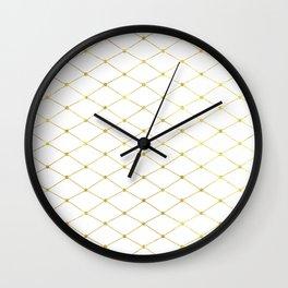 diamond - gold Wall Clock