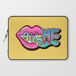 Bite Me - yellow Laptop Sleeve