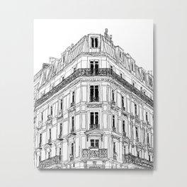 Parisian Facade Metal Print