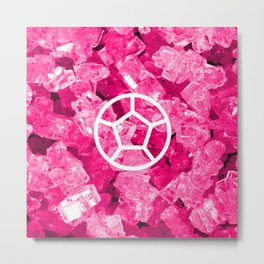 Rose Quartz Candy Gem Metal Print