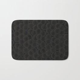 Black spiraled coils Bath Mat