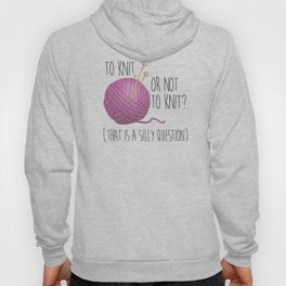 To Knit, Or Not To Knit? (That Is A Silly Question) Hoody