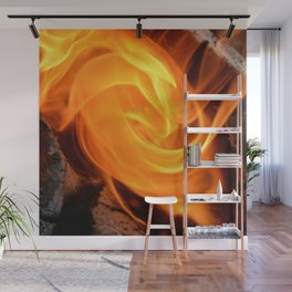 swirling flame Wall Mural