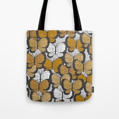 Golden butterflies Tote Bag