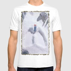 Snow MEDIUM White Mens Fitted Tee