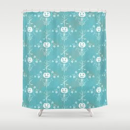 Vintage Halloween in Turquoise Shower Curtain