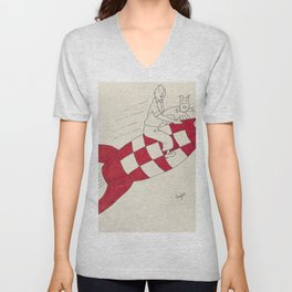 Tintin and Snowy Unisex V-Neck