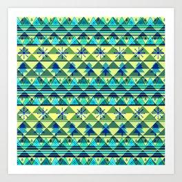 Christmas pattern III Art Print