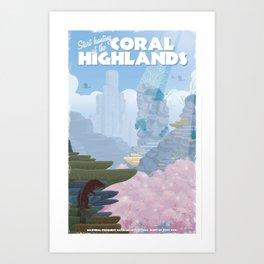 Coral Highlands (Monster Hunter) Travel Poster Art Print