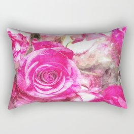 Bunch of Pink roses (watercolour) Rectangular Pillow