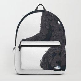Yoga Portuguese Water Dog Backpack