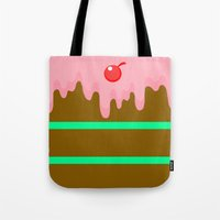 cake Tote Bags featuring Cake by Rejdzy