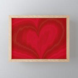 Valentine's Day Red Heart Pattern Framed Mini Art Print