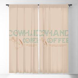 Cowhand Coffee - Mint, Mauve & Cream Blackout Curtain